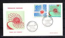 Gabon    enveloppe 1er jour  télécommunications  spaciales  1963