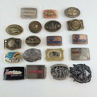 Vintage Mens Belt Buckle Brass  Drilling Company lot of 19