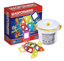 Magformers Set 30 im Eimer mit Deckel Magnet Konstruktionsmaterial (275-13)