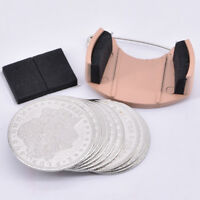 Coin Dumper+10pcs Palming Coins(Morgan size) Magic Trick Appearing/Disappearing