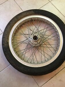 1975 Honda Goldwing GL1000 GL 1000 Gold Wing Front Wheel Rim Tire