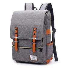 Vintage Laptop Backpack Nylon School Bag Fits 15.6 Inch Laptop for Work Travel