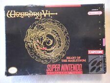 Wizardry VI: Heart of the Maelstrom (Super Nintendo SNES) in Original box....t-3