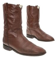 COWTOWN Cowboy Boots 13 D Mens Brown LEATHER Western Rodeo ROPER Boots Biker