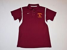Usc Trojans Lacrosse Team Issued Nike Dri-Fit Women's Polo Shirt Medium New