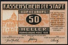 1920 AUSTRIA 50 HELLER NOTGELD NOTE * gEF * Ref 118 *