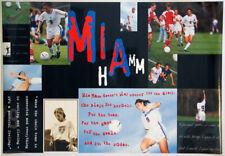 US Women's Soccer MIA HAMM SUPERSTAR 1995 Vintage Original Nike POSTER