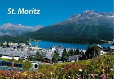St. Moritz Schweiz Suisse Fridge Foto Magnet Epoxid Reise Souvenir