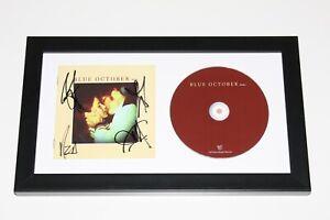 BLUE OCTOBER BAND SIGNED FRAMED 'HOME' CD COVER ALBUM COA x4 JUSTIN FURSTENFELD