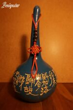 Artist Decorated Hand Carved Chinese Gourd Calabash Nanjing