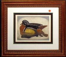 "Geoffrey Lasko ""Wood Duck"" Signed Art Mezzotint Etching Custom Framed MAKE OFFER"