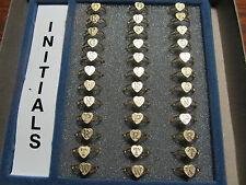 Adjustable Heart Initial Letter Ring Childrens