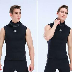 Men's 3mm Neoprene Diving Vest Hooded Tops Wetsuit Scubas Surf Swim Divings T5C2