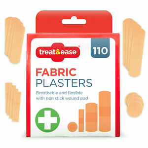 110pk Fabric Plasters   Breathable and Flexible   Healing Plasters UK Seller