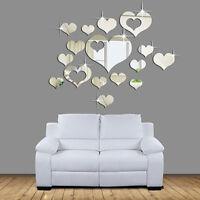 Wall sticker adesivo parete specchio mirror 3D CUORI cuore regalo San Valentino