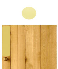POLISHED BRASS FINGER PLATE PUSH PLATE WITH SCREWS TIMBER DOORS DRILLED & CSK