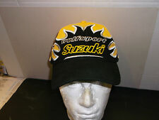 Wulfsport MX SUZUKI FLAME BASEBALL CAP BLACK AND YELLOW