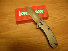 Couteau Kershaw Cryo II A/O Lame 8Cr13MoV Titane Manche Acier/Titane KS1556TI