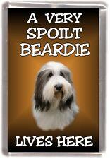 "Bearded Collie Dog Fridge Magnet ""A VERY SPOILT BEARDIE LIVES HERE"" by Starprint"