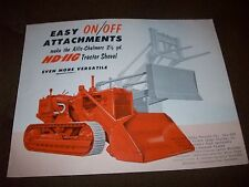 1950s Allis-Chalmers HD-11G Tractor Shovel & Attachment Brochure Poster Crawler