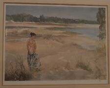 William Russell Flint Limited Edition Semi-Clad Female on the River Bank 683/850