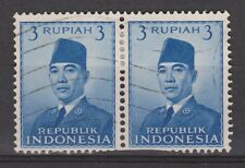 Indonesia 86 pair used 1951 Soekarno : Nu VEEL MEER INDONESIE