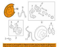 TOYOTA OEM 07-11 Camry Rear Brake-Backing Plate Splash Dust Shield 4650306040