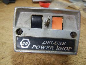 OLDER BLACK AND DECKER DE WALT DEWALT RADIAL ARM SAW SWITCH WITH KEY