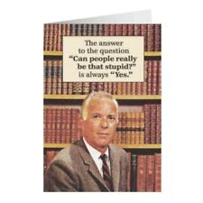 """Retro Humour """"Can People Really Be That Stupid?"""" Greetings Card Birthday Gift"""