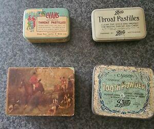 Vintage metal tins