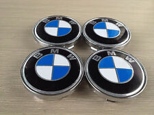 4PCS 60MM Wheel Center Hub Caps Emblem Badge For BMW Blue/White