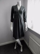ex BODEN pure merino wool V neck knitted dress UK Size 14 R NEW