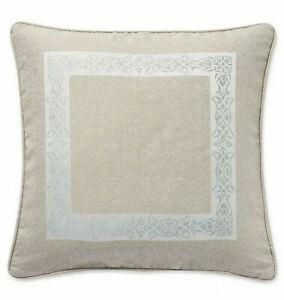 """New Waterford Gwyneth Pale Blue Euro Taupe Pillow Sham European Euro 26""""x26"""""""
