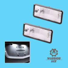 New pair  LH + RH License Plate Light For Audi A3 A4 S4 A5 A6 S6 A8 Q7 RS4