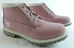 "Timberland Womens 9M Nellie Waterproof Chukka Medium Pink Nubuck 5"" High Boots"