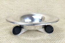 More details for 1932 french art deco caviar bowl silver plated ebony ss normandie henri pacon