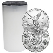 Lot of 25 - 2018 Silver Mexican Libertad Onza 1 oz BU Full Roll