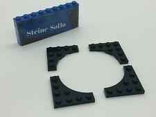 Lego ® 4x 4x4 placa curved - 35044-negro - 4 x 4 plate Black