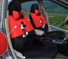 New Mickey Mouse Car Seat Covers Accessories Set 12PCS