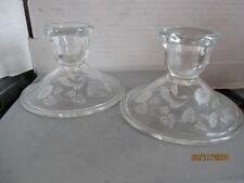 Set of 2 Avon Humming bird 24% lead crystal candle holders b137