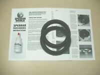 "Bose 2-6"" Woofer Re-Foam Repair Kit For Acoustimass Sub5 II Subwoofer"