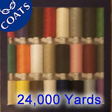 Coats Polyester Moon Thread mixed standard colour pack 24000 yards
