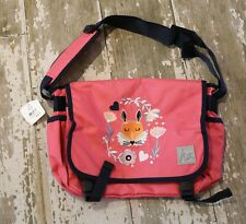 NWT HANNA ANDERSSON Pink Fox Applique School Book Bag NEW School Student BTS fun