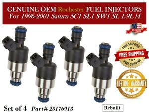 Set of 4 Fuel Injectors OEM Rochester for 1996-2001 Saturn SL1 1.9L I4