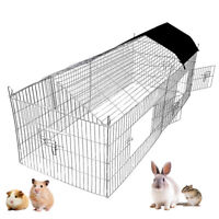 1.8m Pet Rabbit Run Play Pen Guinea Pig Playpen Chicken Puppy Cage Hutch UKED