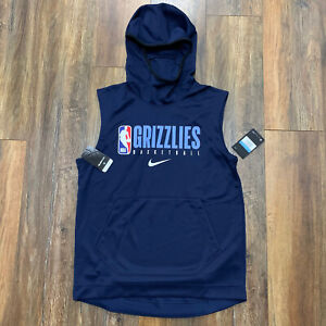 Nike NBA Memphis Grizzlies Player Issue Dri Fit Sleeveless Hoodie Mens
