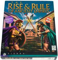 RISE & RULE OF ANCIENT EMPIRES 90s BIG BOX PC GAME CD-Rom 1996 Win 3.1 / 95 CIB