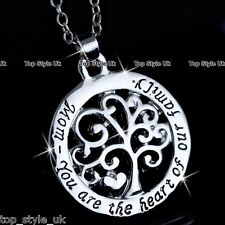 Christmas Love gifts for Mum Mother Tree Heart Necklace Chain Jewelry Present