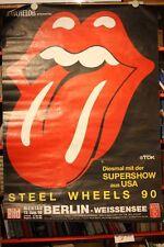 Rolling Stones Zunge - 1990 STEEL WHEELS - Konzertplakat Tourplakat DinA0 XXL