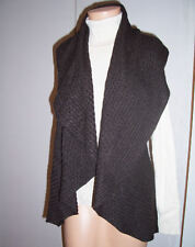 Laurie b Anthropologie Gray Racerback Open Cashmere Blend Sweater Sleeveless Med